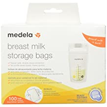 Medela Inc Breast Milk Storage Bags, White, 100 Count