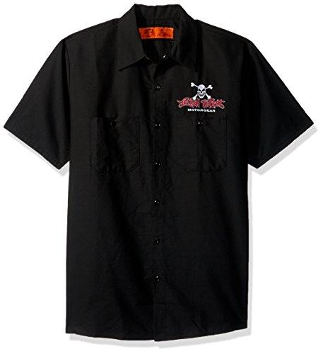 Lethal Threat (WS40302L Men's 'FREEDOM ISN'T FREE EAGLE' Work Shirt (Black, ()