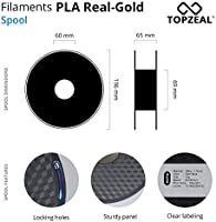Filamento de impresora 3D TOPZEAL, filamento PLA de color oro real ...