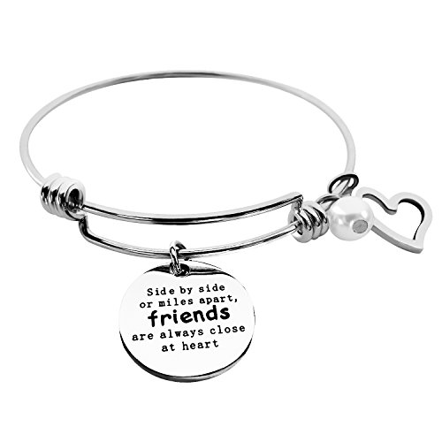 ALoveSoul Best Friends Bracelet - Side by Side Or Miles Apart Friend Bracelet - Long Distance Friendship Gifts