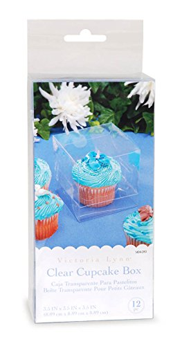 Darice 12 Piece Cupcake Box, 3.5 by 3.5 by 3.5