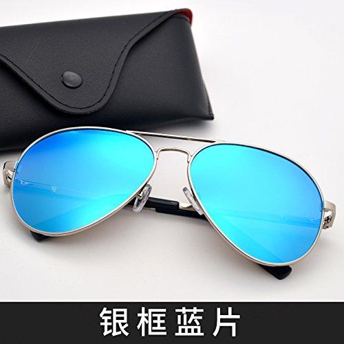 Frame Silver y Gafas sol hombres tendencias de gemajing KOMNY de hombres Blue mujeres plata polarizador Gafas gafas pilotos de azul de color marco conduciendo sol wIqfqgxBp