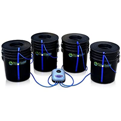 "Best Cheap Deal for Deep Water Culture (DWC) Hydroponic Bubbler Bucket Kit by PowerGrow ® Systems (4) 5 Gallon - 6"" Buckets from PowerGrow Hydroponic Systems - Free 2 Day Shipping Available"