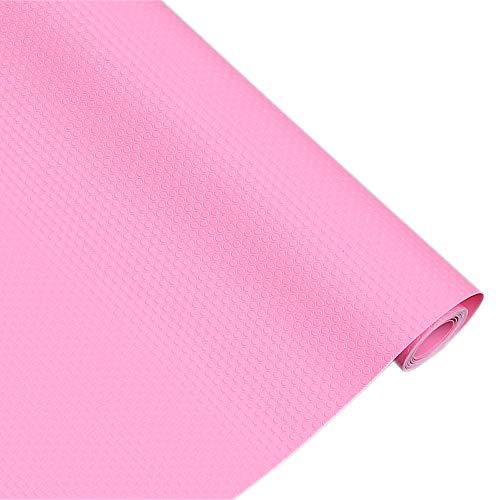 Bloss Non-Slip Shelf Liner Cabinet Pad Shelf Liners Drawer Closet Fridge Liner Multifunction Pad No Odor for Home Kitchen Living Room-Pink 17.7×59 - Drawer Liner Pad