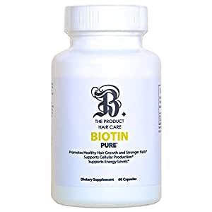 Biotin for Hair Growth Dietary Supplement: (High Potency) Natural Biotin Hair Vitamins for Hair Loss & Support Healthy Skin & Stronger Nails - Maximum Strength 10,000 MCG Biotin for Men & Women