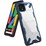 Ringke Fusion X Designed for Google Pixel 4 XL Case, Rugged TPU with Crystal Clear PC Protection for Google Pixel 4XL Case (2019) - Space Blue (Color: Space Blue)