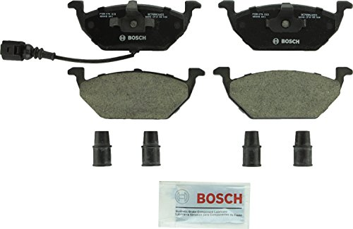 Bosch BC768A QuietCast Premium Ceramic Disc Brake Pad Set For Volkswagen: 2000-2010 Beetle, 2000-2006 Golf, 2007-2010 Golf City, 1999-2005 Jetta, 2007-2009 Jetta City; Front (2004 Jetta Front Brake Pads)