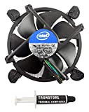 Intel Core i3 i5 i7 Socket 1151 1150 1155 1156 4-Pin Connector CPU Cooler with Aluminum Heatsink & 3.5-Inch Fan with TRONSTORE Thermal Paste for Desktop PC Computer (TS2)