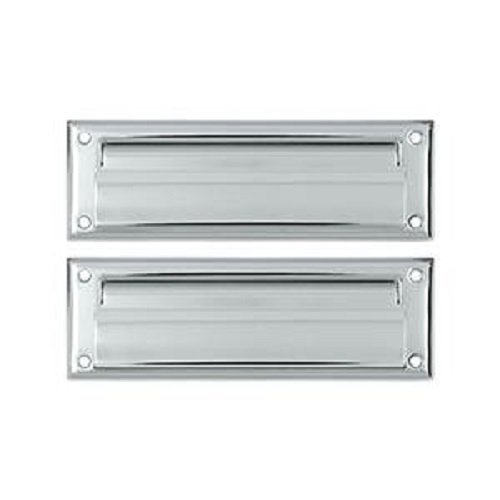 Deltana MS627U26 8 7/8-Inch Mail Slot with Solid Brass Back Plate