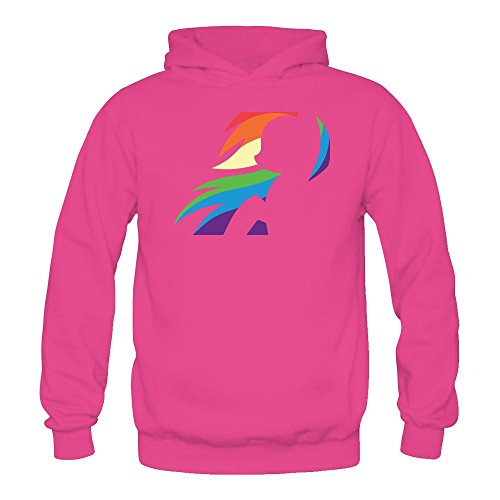 Tommery Women's My little pony Hasbro Rainbow Dash Costume Logo Long Sleeve Sweatshirts (Reservoir Dogs Costume Halloween)