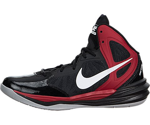 Nike Prime Hype Df Men's Basketball Shoes, Black/White/Unvrsty Rd/Anthrct, 10.5 (High Top Basketball Shoes Men compare prices)