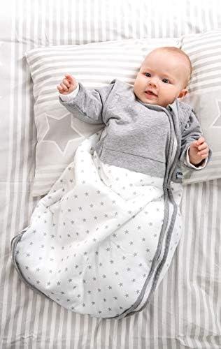 Gesslein 771083 Bubou Gigoteuse réglable toute l'année pour bébé/enfant Gris/blanc Taille 70