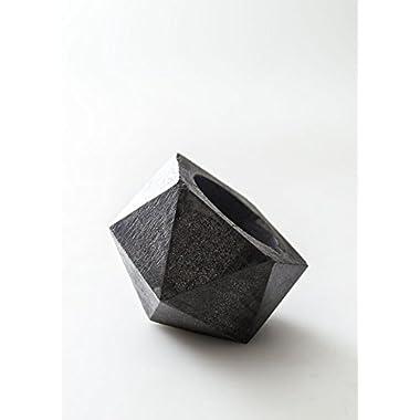 Geometric Pottery | Dark Concrete Planter | Concrete Succulent Dish