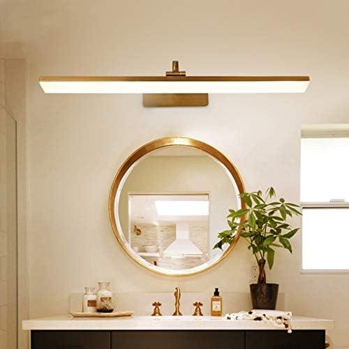 S. Einfache 41/51 / 61 / 71CM langen Streifen LED-Spiegel-Frontleuchte European Style Badezimmer Bronze Acryl Wandleuchte [Energieklasse A ++] (Color : Three color light)