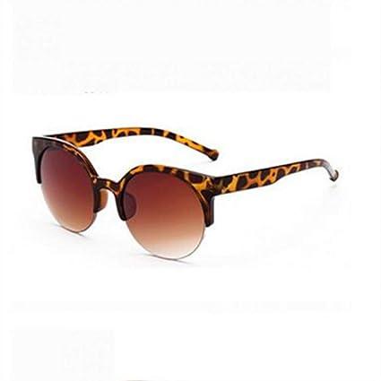 LLLM Gafas de sol Gafas de Sol Redondas Ojo de Gato Mujeres ...