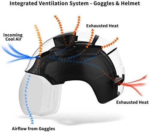 TurboSke Ski Helmet, Snowboard Helmet Snow Sports Helmet, Audio Compatible and Lightweight, ASTM Certified Helmet for Men, Women and Youth