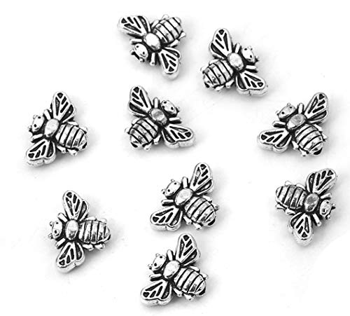 Spacer Bead Animal Charms, 95 Pack with 1.3mm Hole (Bumble Bees)