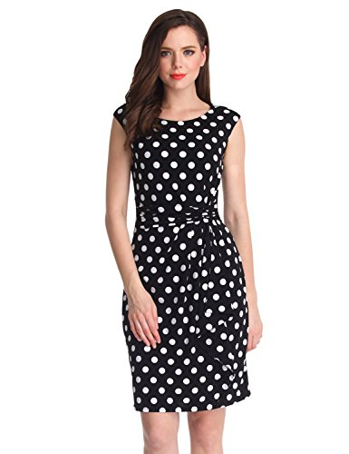 LookbookStore Womens Polka Sleeveless Bodycon