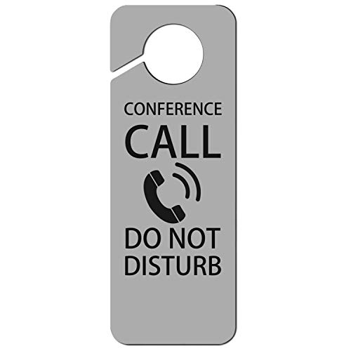 sth fun. White Graphics and More Stop Do Not Disturb Sign Plastic Door Knob Hanger Sign Conference Call Do Not - 2 Cabinet Door Conference