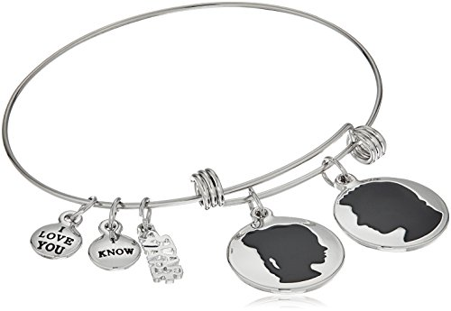 Star Wars Jewelry Han Solo and Princess Leia Expandable Charm Bracelet, 7.5