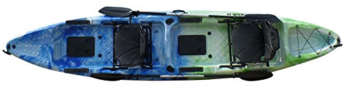 Epic Gear Next Tracker II 13' Fishing Kayak with Paddles (Blue Ocean -