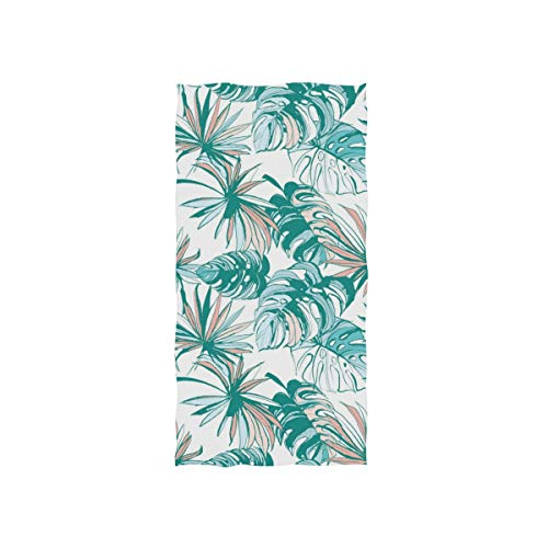 - SUABO Tropical Leaves Hand Towel Dish Towels Cotton Face Towel 30x15 inch Gym Yoga Towels for Bath Decor