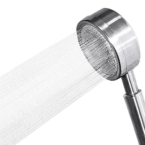 DENGUST Shower Head with Handheld High Pressure Massage Detachable Stainless Steel Showerhead Hose Adjustable Aluminum Bracket