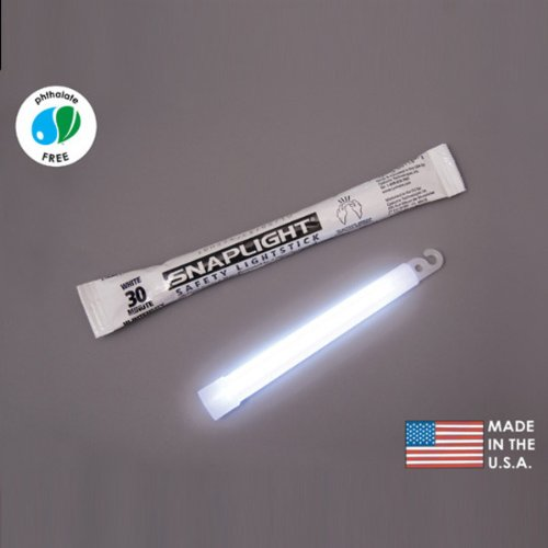 (10 Pack) Cyalume Light sticks 9-08017 - 6 in. SnapLight - White - Hi-Intensity - 30 Minutes - Industrial Grade