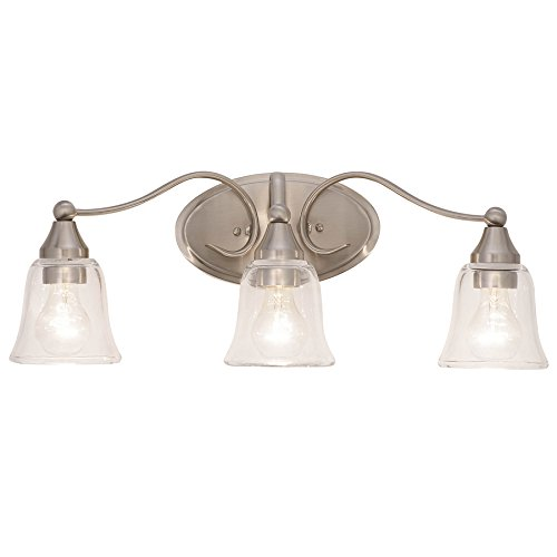Bell 3 Light (Kichler Hamden 3-Light 8.5-in Brushed nickel Bell Vanity Light Bar)