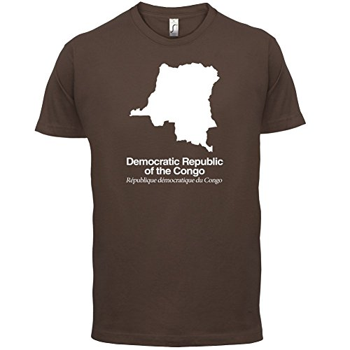 Democratic Republic of the Congo / Demokratische Republik Kongo Silhouette - Herren T-Shirt - Schokobraun - XL