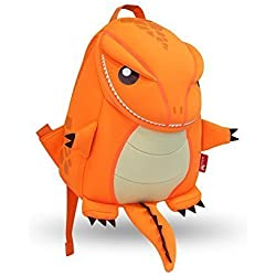 Coavas Gift For Kids Backpack Cute Toddler Backpack - Cute Lifelike Dinosaur Orange(10.6*9.1*3.7 inch) - Best Gift for Kids 3-8 years old by Coavas