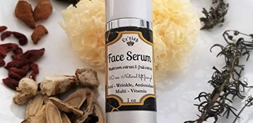 Lerish face serum 60 sec. Natural lift firm serum 3 in 1 Anti- wrinkle, Antioxidant, Multi - Vitamin, Natural Fruiting bodies of Mushroom extract and Fruit extract