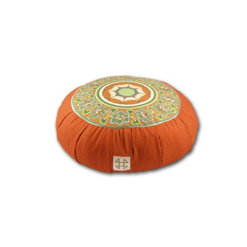 Relaxso Zafu Statics Meditation Cushion, Toile Orange by Relaxso