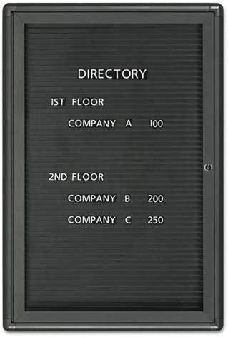 GBC Enclosed Magnetic Directory Gray Frame 24 x 36 Black