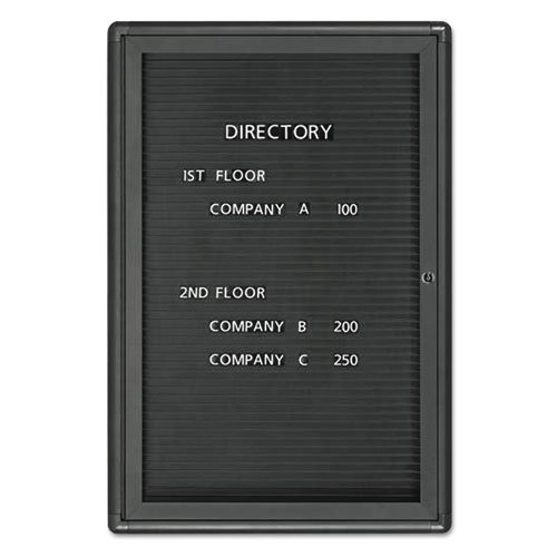 GBC Enclosed Magnetic Directory, 24 x 36, Black, Gray Frame (Presentation Board Enclosed)