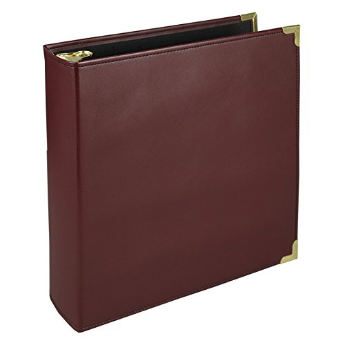 Samsill 15164 Classic Collection Executive Presentation 3 Ring Binder, 2 Inch Brass Round Ring (Holds 450 Sheets), (Burgundy Durable Round Ring)
