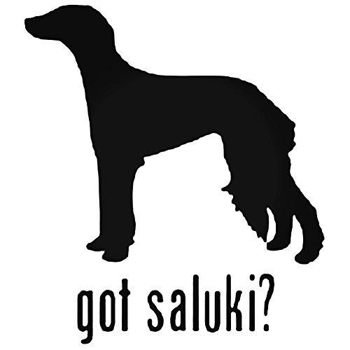(YWS Vinyl Sticker Decal - Got Saluki Hound Dog - Sticker Laptop Car Truck Window Bumper Notebook Vinyl Decal)
