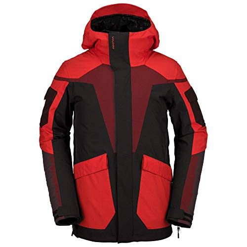 Volcom Men's Utility Snowboard Jacket Black Red