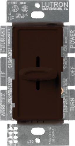 Lutron S-600-BR Skylark 600-watt Single Pole Dimmer, Brown, 1-Pack