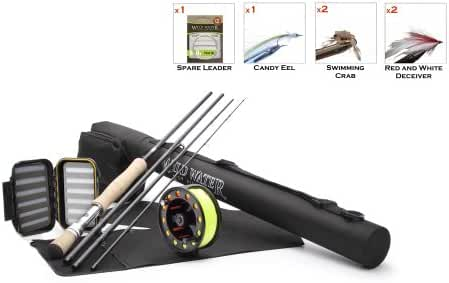Wild Water Fly Fishing Complete 9/10 Starter Package (Saltwater Fly Assortment)