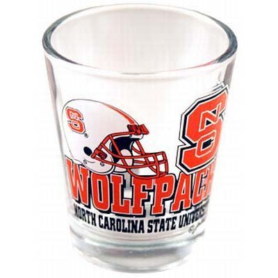Shot Glass College 'NC STATE WOLFPACK' - Wolfpack Glass