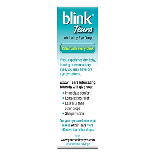 Blink Lubricating Eye Drops For Mild Moderate Dry Eye, 1 oz