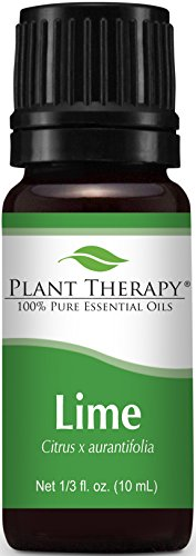 Plant Therapy Lime Essential Oil 10 mL (1/3 oz) 100% Pure, Undiluted, Therapeutic Grade