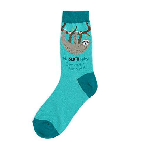 Foot Traffic, Women's GIRL POWER Novelty Socks, Sloth (Shoe Sizes 4-10)