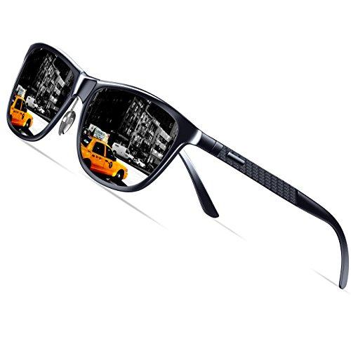 KITHDIA Mens Driving Polarized Wayfarer Sunglasses Al-Mg Metal Frame Ultra Light #407 by KITHDIA (Image #2)
