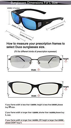 d393f6b815171 Duco Unisex HD Wraparound Prescription Glasses Polarized Sunglasses 8954 ( Black Frame Revo Blue)