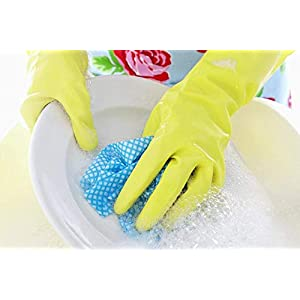 Even Rubber Reusable Hand Gloves for Cleaning...