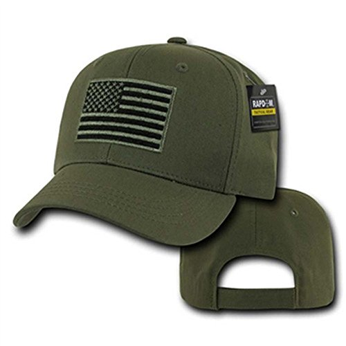 Rapdom Tactical USA Embroidered Operator Cap, (Embroidered Olive)