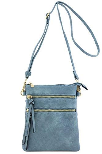 Functional Multi Pocket Crossbody Bag (Blue Grey)