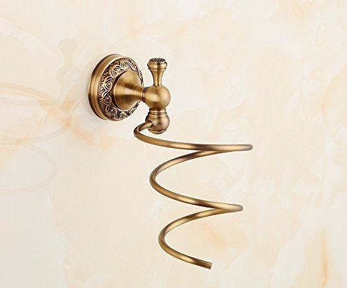 OLQMY-European Style All Copper Hairdryer Frame, Antique Wall Hanging Air Rack by OLQMY